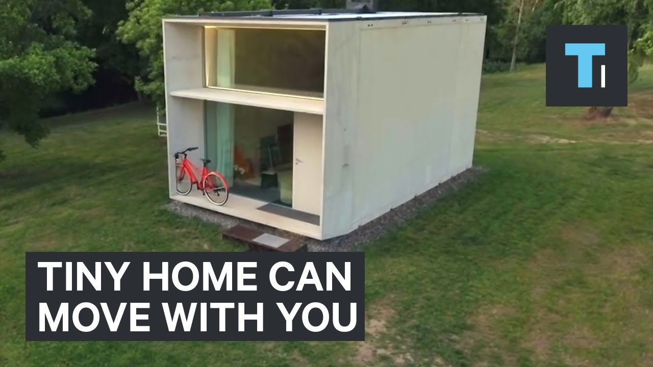 This Tiny Home Can Move With You Youtube