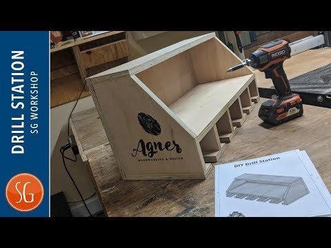 DIY Drill Charging Station // Plans // Southern Woodworkers Maker Swap 2018
