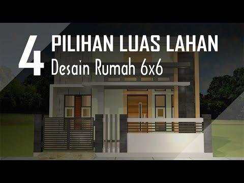 Rumah Minimalis 2 Lantai Ukuran 6x6  4 pilihan luas lahan untuk desain rumah 6x6 youtube