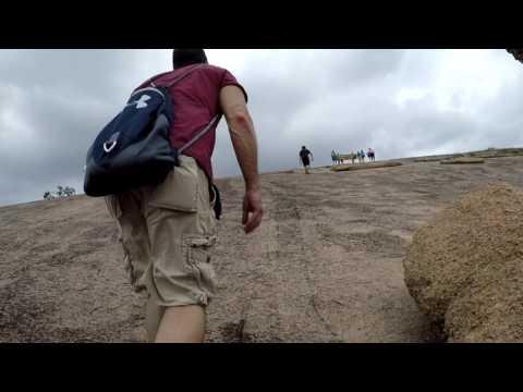 Hiking Enchanted Rock, Fredericksburg, Tx
