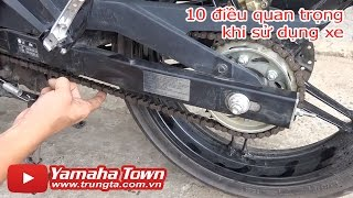Exciter 150 - 10 điều cần thiết khi kiểm tra xe! ✔