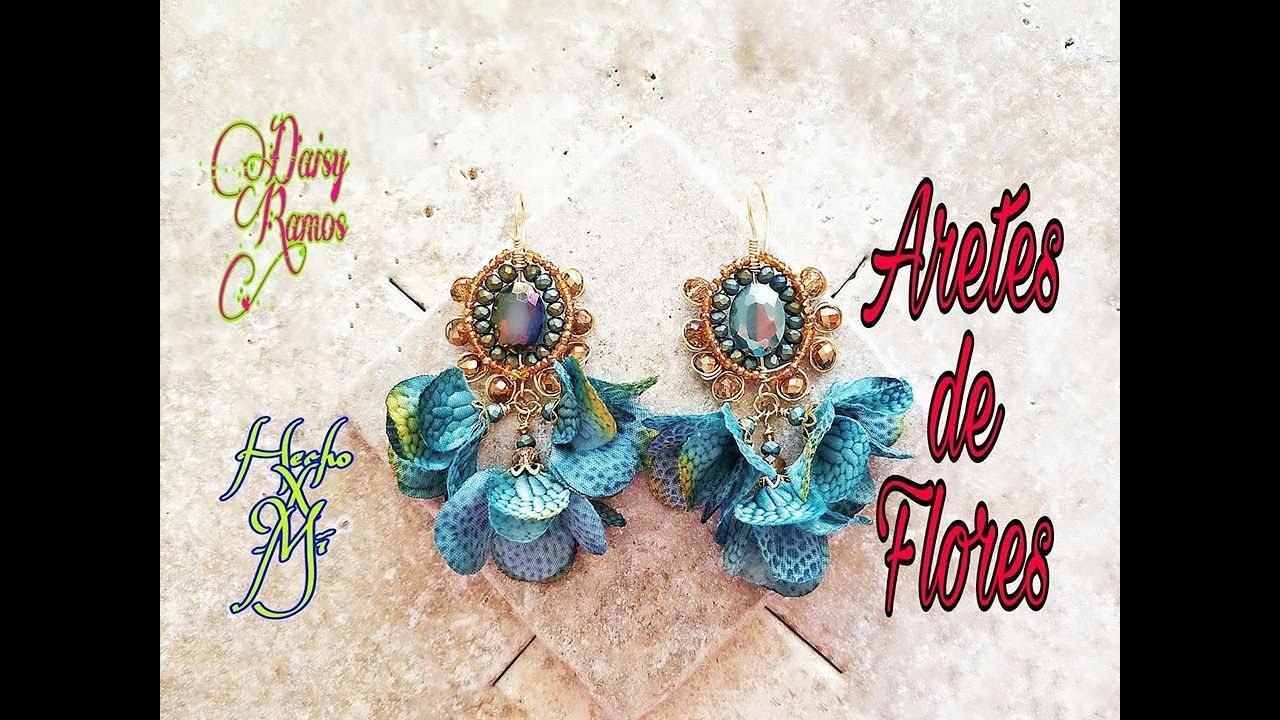 4d61f0eb32b7 Aretes de Moda con Flores - YouTube