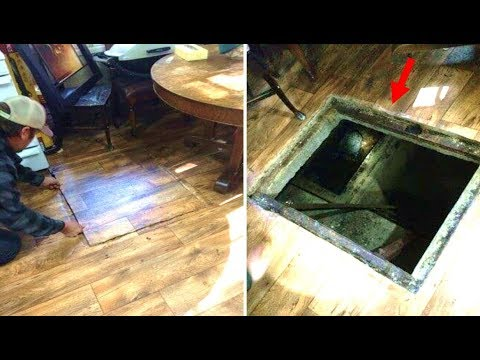 This Cabin Owner Makes A Mysterious Discovery When He Opens This Secret Trapdoor