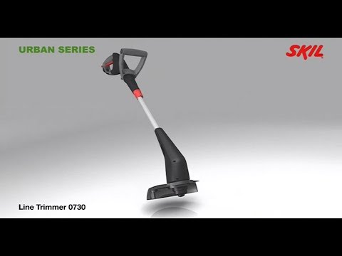 Skil 0730 AA line trimmer: powerful 250W motor for most grass trimming applications