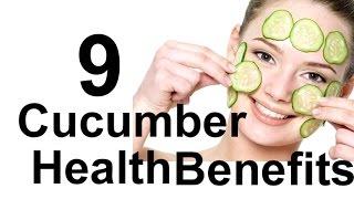 Cucumber Health Benefits - 9 Benefits of Cucumber Skin, Aniti Aging, Eyes