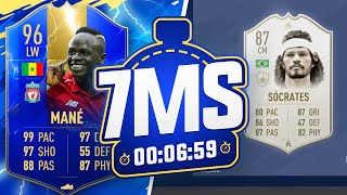 BIGGEST ICON DISCARD YET! 😱TOTS 96 MANE 7 MINUTE SQUAD BUILDER!! - FIFA 19 ULTIMATE TEAM