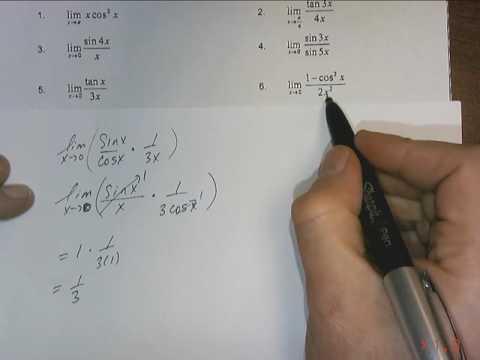 Trig Limits Homework DONE