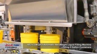 Liquid Filling Machine - Ideal-Pak AE2-CGM Automatic Net Weight Filling Machine