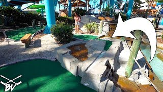 I CAN'T BELIEVE THIS MINI GOLF COURSE DID THIS!! + DOUBLE HOLE IN ONE!
