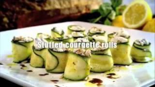 Gordon Ramsay  - Stuffed courgette rolls