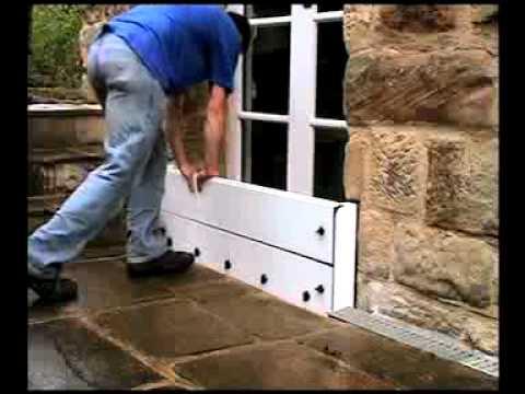 Soluciones para inundaciones flood ark es youtube for Zocalos para garajes
