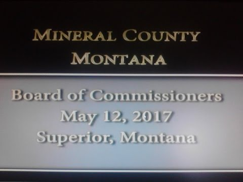 Mineral County Montana Commissioners' meeting May 12, 2017
