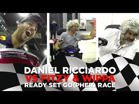 F1 Daniel Ricciardo races mobility scooters against Fitzy & Wippa!