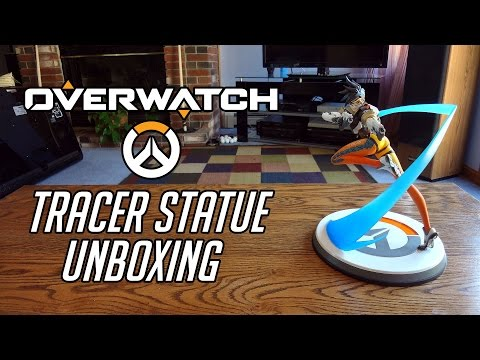 Overwatch Premium Polystone Tracer Statue Unboxing & Review - 2nd Run Fixed Face Version