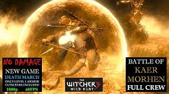 The Witcher 3 [DEATH MARCH] #45 NO DAMAGE Battle of Kaer Morhen