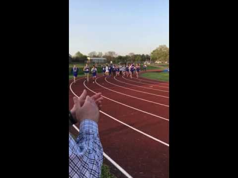 Portage West middle school victory lap