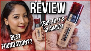 LOREAL 24H FRESH WEAR FOUNDATION | REVIEW, DEMO & WEAR TEST | Stacey Castanha