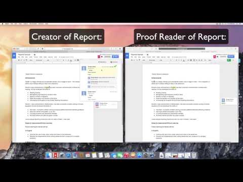Using Google Docs for collaborative report writing and editing in realtime