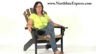 Breezesta's Maintenance Free Patio Furniture - The Black And Cedar Coastal Adirondack Chair