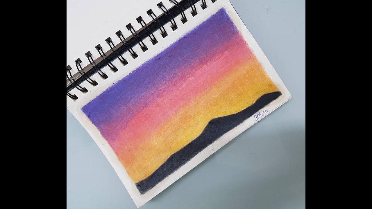 Drawing Sunset Using Colored Pencils - YouTube