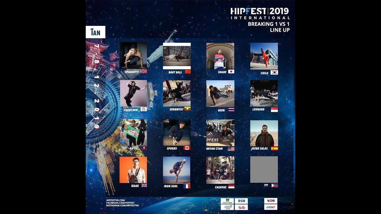 Intro Lineup Battle 1 vs 1 | HIPFEST 2019 | Final 18 Countries