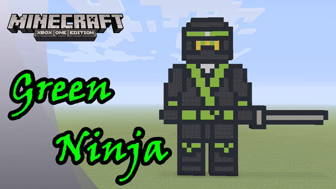 Minecraft Pixel Art Tutorial And Showcase Green Ninja The Lego Ninjago Movie