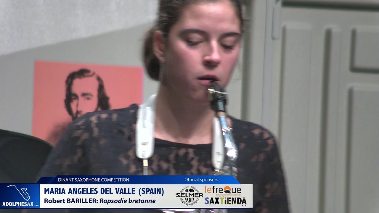 Maria de los Angeles del Valle Casado (Spain) –  Rapsodie Bretonne by Robert Bariller (Dinant 2019)