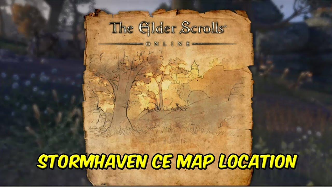 Elder Scrolls Online Stormhaven CE Treasure Map Location - YouTube