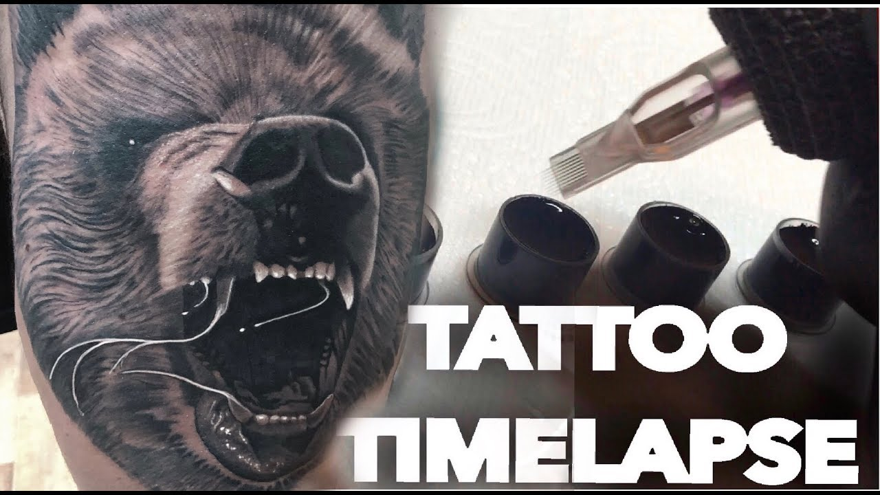 Tattoo Timelapse Grizzly Bear Chrissy Lee