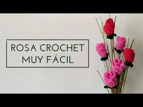Rosas crochet ¡muy fácil! Haz muchas rosas de colores 🎨