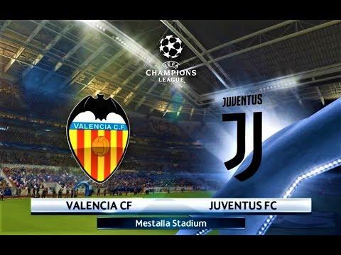 Valencia Vs Juventus Uefa Champions League  Gameplay Hd