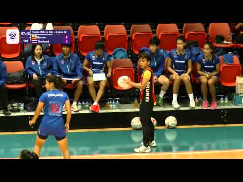 9th Asian Youth Netball Championship   Finals 5th vs 6th Brunei vs Thailand