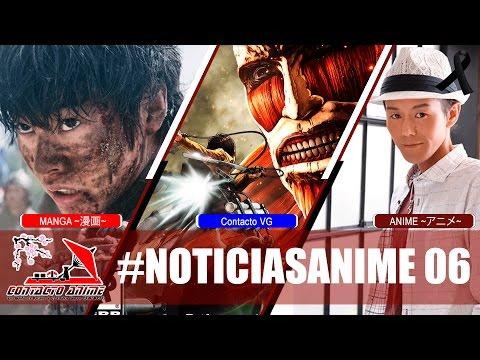 CONTACTO ANIME Noticias #06   Kingdom Live Action   Shingeki No Kyojin   Fallece Kouji Wada