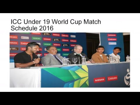 ICC U19 Cricket World Cup 2016 Schedule  Live Streaming Score  u19 cwc 2016  Fixtures  Teams