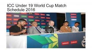 ICC U19 Cricket World Cup 2016 Schedule | Live Streaming Score | u19 cwc 2016 | Fixtures | Teams