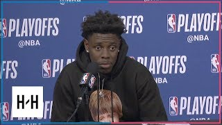 Jrue Holiday Postgame Press Conference | Pelicans vs Blazers - Game 2 | 2018 NBA Playoffs