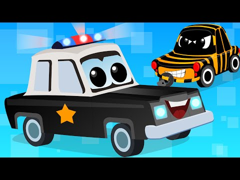 Thumbnail: Cars Cartoons - Zeek And Friends | Police Car Song | vehicle songs