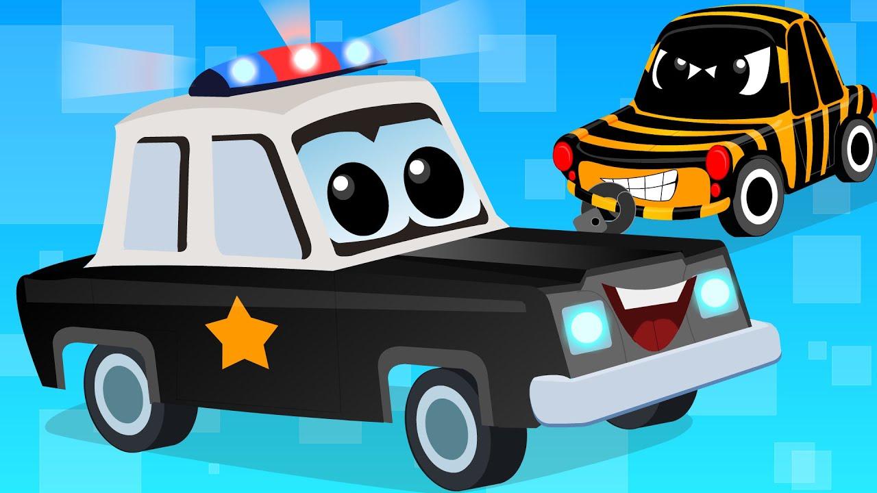 cars cartoons zeek and friends police car song vehicle songs youtube