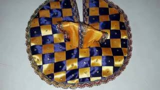 PART 2 - Make poshak / dress with Satin Ribbon...of Bal gopal / Ladoo gopal / Krishna