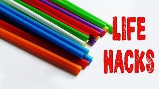 6 Life hacks for drinking straws - Drinking straw tricks