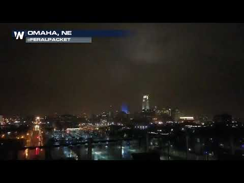 Epic Lightning Strike on Omaha Skyline