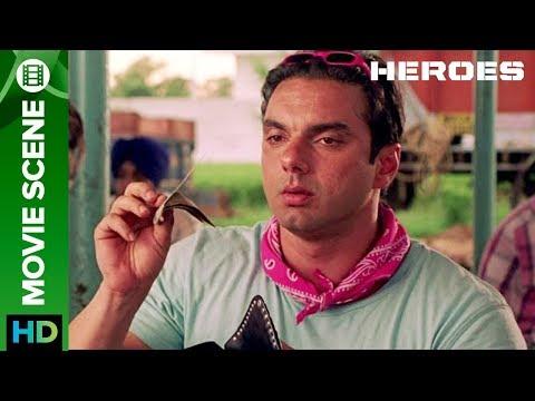 Sohail khan eats at a Dhaba   Movie Scene   Heroes   Sohail Khan & Vatsal Sheth