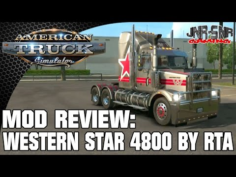 ATS MODS | Western Star 4800 By RTA mods | AMERICAN TRUCK SIMULATOR MOD REVIEW | ATS MOD REVIEW