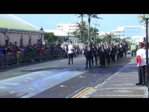 Veterans March On Remembrance Day Parade Bermuda November 11 2011