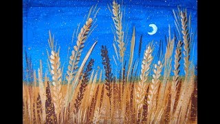 Рисуем пшеничное поле. Правополушарное рисование
