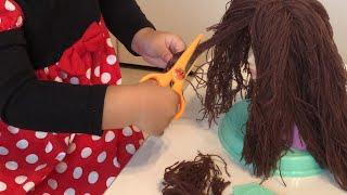 本当に髪をカット‼︎ヘアデザイナー おもちゃ ヘアメイクさん 美容室ごっこでキレイにしよう!!
