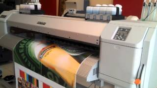 DATAWORKS First installation MUTOH VALUEJET 1638S with UMS INKS. First printing !