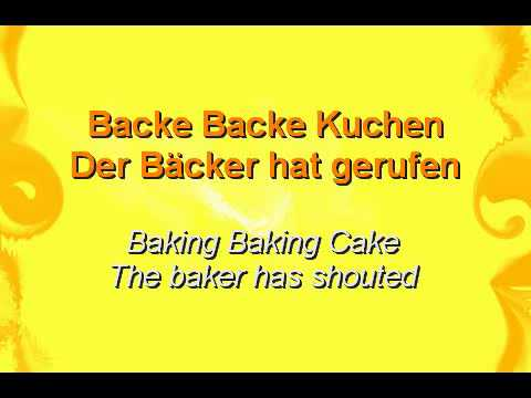 Backe backe kuchen english translation