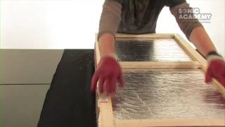 How To Make A Rockwool Sound Absorber / Acoustic Panels - Part 3 Fabric