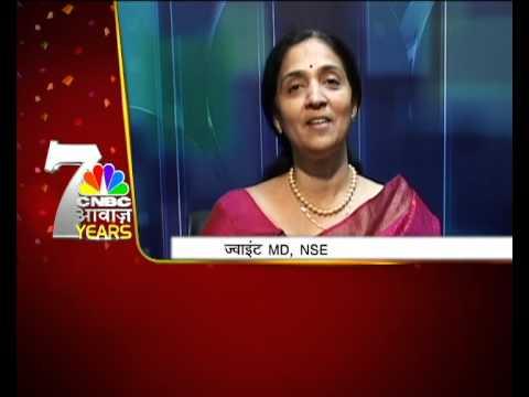 CNBCAWAAZ Birthday Wishes by Chitra  Ramakrishna Joint MD , NSE